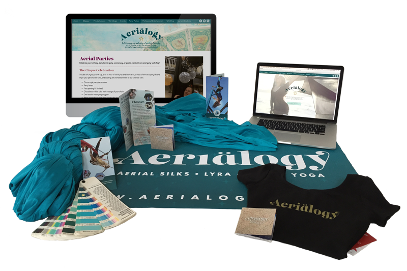 aerialogy branding web design graphic design